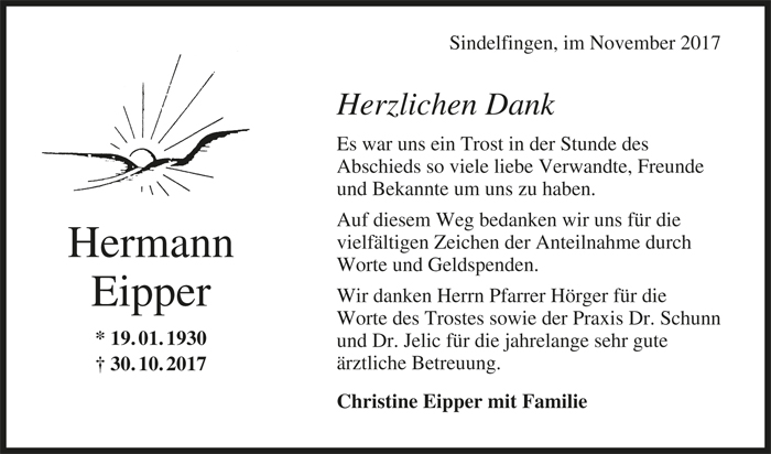 Danke Hermann Eipper