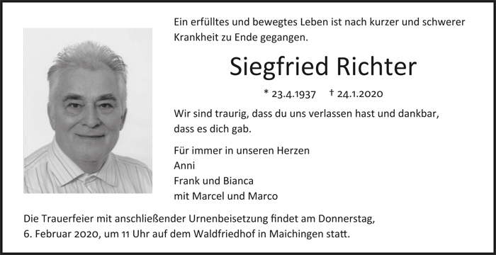 TA Siegfried Richter