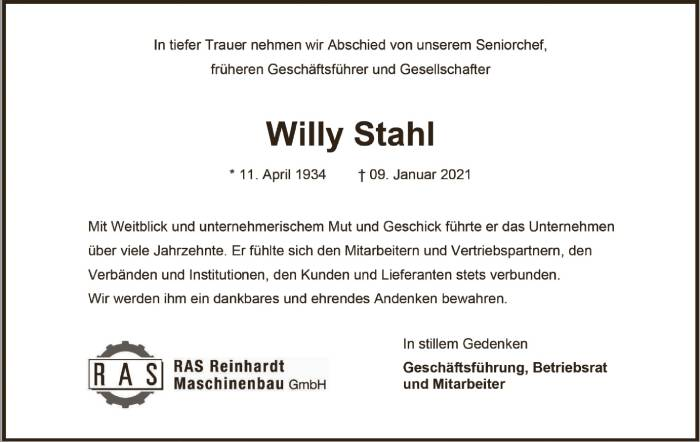 NR Willy Stahl