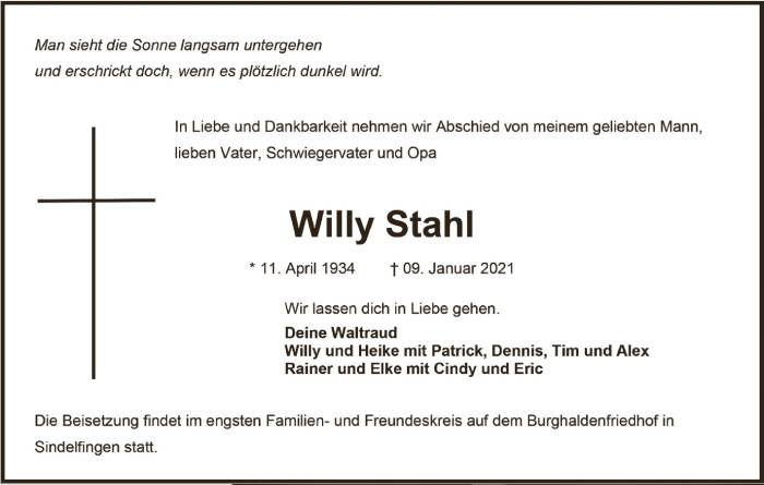 TA Willy Stahl